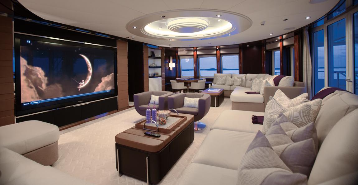 Home cinema on board superyacht